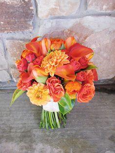 shades of orange bouquet