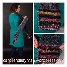 Add some colour to your scarf caroliensaayman.wordpress.com #wearableart #knittersofinstagram #knittersoftheworld #knittinglove #knitting #knittingdesign #caroliensaayman #scarf 3d Fashion, Knitting Designs, Wearable Art, Knitwear, My Design, Wordpress, Colour, Crochet, Fabric