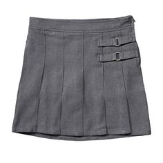 Girls 4-20 & Plus Size French Toast School Uniform 2-Buckle Solid Skort, Girl's, Size: 14 Plus, Light Grey