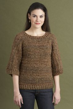 Cozy Classic Pullover - Free Crochet Pattern - (lionbrand)