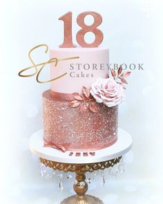 Rose Gold Birthday Cake birthday cake, rose gold cake, rose gold glitter ca. Glitter Birthday Cake, Birthday Cake Roses, Bithday Cake, Beautiful Birthday Cakes, Glitter Cake, Gold Glitter, 18th Birthday Cake For Girls, 19th Birthday Cakes, Birthday Cake For Him