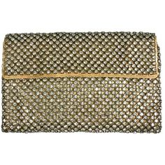 Preowned Art Deco Pave Envelope Clutch (21.615 RUB) ❤ liked on Polyvore featuring bags, handbags, clutches, brown, art deco handbags, brown envelope clutch, preowned handbags, envelope clutch bag and brown handbags