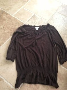 BROWN WOMENS BLOUSE BY ANN TAYLOR LOFT Size M #AnnTaylorLOFT #Blouse