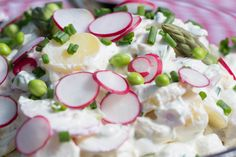 Danish Potato Salad  Potato salad is a classic at danish BBQ's. Most families have their own  recipes, and sometimes you just take the easy way out and use a store  bought. But homemade is best. I like to have different textures in my  potato salad, and the asparagus, peppers and radishes gives