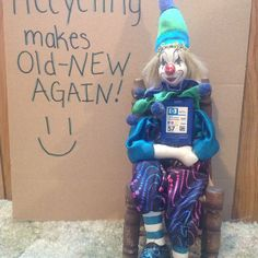 Clown made from recycled ink cartridge.  Recycling makes old new again!