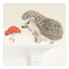 Hedgehog Mini Movable, PVC free, Fabric Wall Stickers