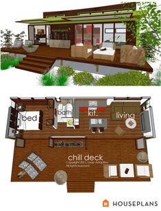 Container House - Awesome 87 Shipping Container House Plans Ideas - Who Else Wants Simple Step-By-Step Plans To Design And Build A Container Home From Scratch? Cottage House Plans, Small House Plans, Cottage Homes, Tiny Home Floor Plans, Sims 4 House Plans, Modern House Floor Plans, Pool House Plans, Building A Container Home, Container Homes