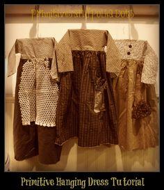 primitive hanging dress tutorial