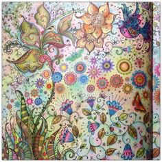 Take a peek at this great artwork on Johanna Basford's Colouring Gallery! Johanna Basford Books, Johanna Basford Coloring Book, Secret Garden Book, Johanna Basford Secret Garden, Secret Garden Coloring Book, Polychromos, Colouring Techniques, Coloured Pencils, Coloring Book Pages