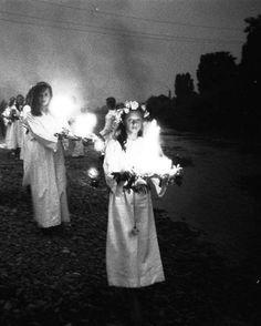 Celebrations of the Noc Kupały (Kupala Night) in Skoczów (Poland), 70s