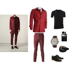 """Something red"" by flatseven on Polyvore #FLATSEVEN #Outfit #ideas #fashion #mens #clothing www.flatsevenshop.com"