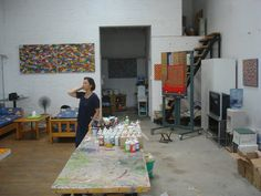 artist's studio - yet to work out who the artist is
