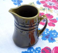 Items similar to Homer Laughlin Sheffield China - Granada Avocado Green Creamer - Shipping Included on Etsy Vintage Dishware, Vintage Dinnerware, Homer Laughlin, Sheffield, Granada, Etsy Vintage, China, Unique Jewelry, Handmade Gifts