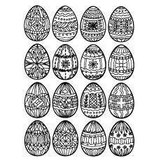 Top 25 Free Printable Easter Egg Coloring Pages Online ...