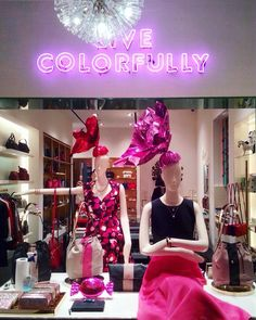 "KATE SPADE,New York, ""LIVE COLORFULLY"", pinned by Ton van der Veer"