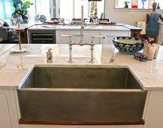 Nickel farmhouse sink   Bakes and Company