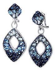Blue #topaz drop earrings #lordandtaylor