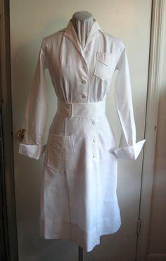 1940s nurse dress uniform wwII U.S. Navy long sleeve by edgertor