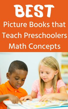 List of preschool picture books that teach math concepts like size, shape, counting, measurement and more. Preschool Age, Preschool Books, Preschool Activities, Science Projects For Kids, Educational Activities For Kids, Preschool Pictures, Read Aloud Books, Best Children Books, Math Books