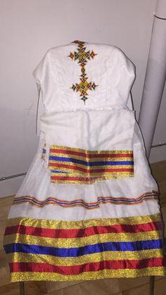 Ethiopian Traditional Dress, Traditional Dresses, Habesha Kemis, Ethiopian Dress, Waistcoat Men, Handmade Dresses, African Dress, African Fashion, Dress Skirt