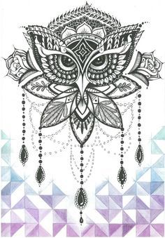 Mandala Owl Tattoo