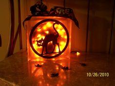 Halloween Glass Block