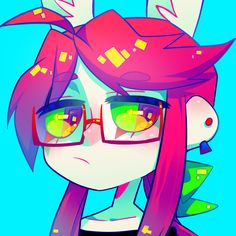 Twitch Avatar by Krooked-Glasses Cute Art Styles, Cartoon Art Styles, Amazing Drawings, Cool Drawings, Cartoon Kunst, Cartoon Girl Drawing, Character Design Inspiration, Furry Art, Aesthetic Art
