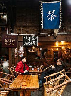 Kuan Zhai Xiangzi (Alley) , Chengdu city, China  四川成都 宽窄巷子 Chinese Buildings, Cultural Beliefs, Mood Images, Tea Culture, Keep Calm And Drink, Chinese Tea, Chengdu, China Travel, My Tea