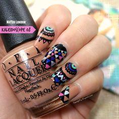 MoYou London Kaleidoscope 08 #nailart #moyoulondon #stampingplate