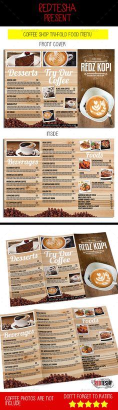 coffee menu flyer food menu design and coffee. Black Bedroom Furniture Sets. Home Design Ideas