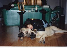 Selena with hers and Chris English mastiff! Selena Quintanilla Perez, Selena Mexican, Selena Pictures, Best Artist, Role Models, My Idol, Singer, Dogs, Celebrities