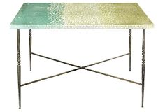 Green Gradient Mosaic Dining Table on OneKingsLane.com