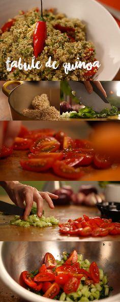 A quinoa é indispensável em qualquer cozinha, ajuda a reduzir o colesterol, é rica em proteínas, zinco, ferro e cálcio. Misturada com tabule ficou uma delicia. Veja mais receitas em www.myyellowpages.com.br