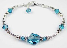 beaded bracelets | ... beaded bracelet swarovski crystal beaded birthstone bracelets 59 95