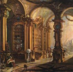 Jacques de Lajou,  Cabinet of Joseph Bonnier de La Mosson 18th century