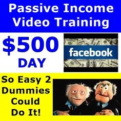 $500 Day Facebook No Investment Passive Income Video Training | How To M...