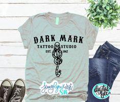 Funny Harry Potter Shirts, Dark Mark Tattoos, Harry Potter Voldemort, T Shirty, Disney Dress Up, Cricut Design Studio, Silhouette Tattoos, Vinyl Shirts, Baby Shirts