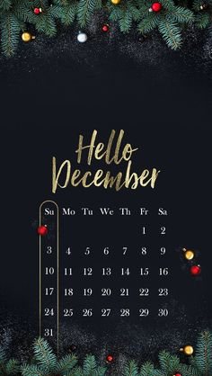 Hello december // wallpaper, backgrounds