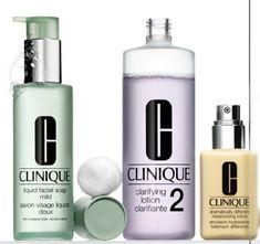 i will never go a day without my clinique 3-step skin care!