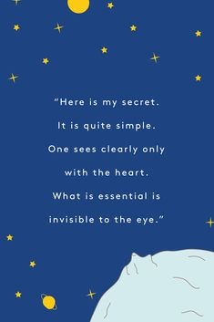 "These Are Our Very Favorite Quotes From ""The Little Prince"" - Quotes My Pin Literary Quotes, Movie Quotes, Book Quotes, Words Quotes, Wise Words, Life Quotes, Quotes From Movies, Career Quotes, Dream Quotes"