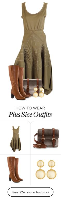 """Green Handkerchief Dress"" by majezy on Polyvore"