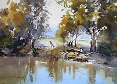 David Taylor Watercolor Artist | David Taylor - Goulburn River Magic