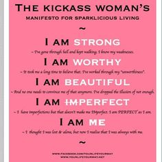 Recite after me, Ladies!  I AM.....  http://blog.worldwidesolutionz.com/join-us-take-the-10-day-positivity-challenge/