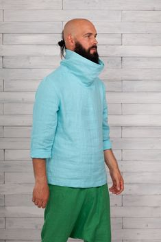 #linenapparel #linen  #mensshirt #linenmenshirt #linenmanshirts #flaxshirtsmen #flaxshirt #linenshirtsformen #softlinenshirts #shirtsmengift #linenmensclothes #linocolore Green And Brown, Red And Pink, Bald With Beard, Italian Men, Oeko Tex 100, Boys Shirts, Long Sleeve Shirts, Just For You, Pure Products