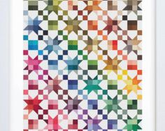 Counted Cross Stitch Rainbow Quilt Pattern by EmblemsDesign