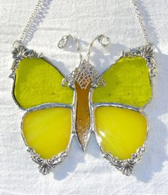 Yellow Victorian Butterfly by MoreThanColors on Etsy, $28.50