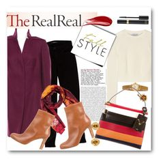 """""""Fall Style With The RealReal: Contest Entry"""" by bonadea007 ❤ liked on Polyvore featuring J Brand, Akris, Helmut Lang, Kenzo, Christian Louboutin, Tiffany & Co., Valentino, Hourglass Cosmetics and Tom Ford"""