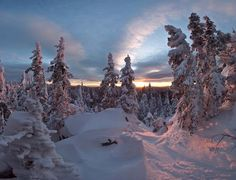 Ural mountains in Russia--Imagine the snow angel possibilities :)