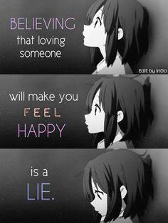croire que aimer quelqu'un vous fera sentir heureux et un mensonge