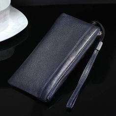 Strap Hand Card Wallet Genuine Cow Leather Mobile Phone Case Pouch For Huawei S/Mate 9 Porsche Design Porsche Design, Cow Leather, Card Wallet, Iphone 7, Zip Around Wallet, Pouch, Samsung, Phone Cases, S7 Edge